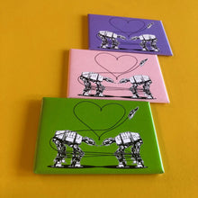 Load image into Gallery viewer, Magnet: 3x2 Inch - Love AT-AT First Sight - Pink