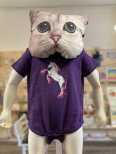 Load image into Gallery viewer, Onesie: Roller Skating Unicorn - Purple
