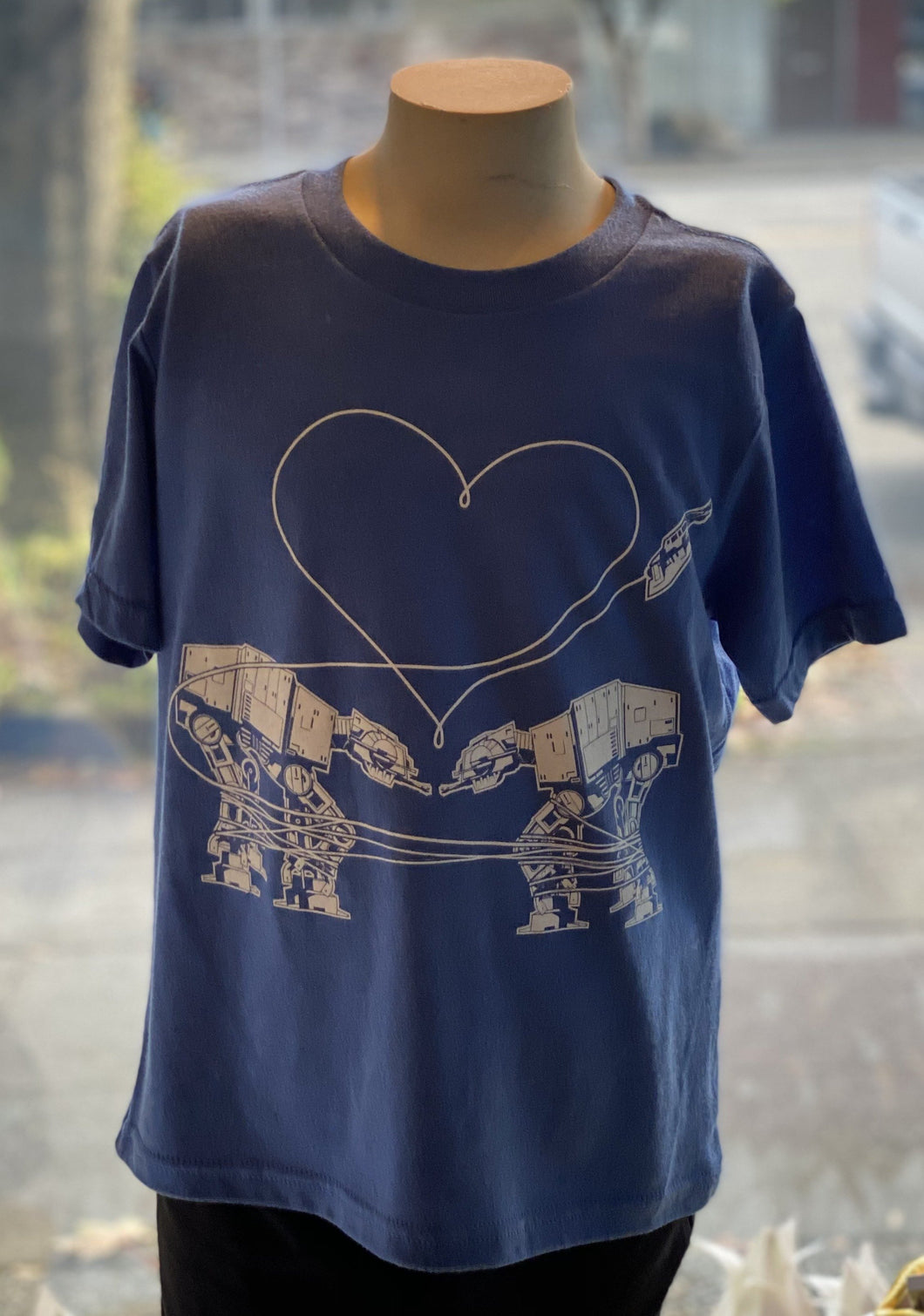Youth Shirt: Love AT-AT First Sight - Blue