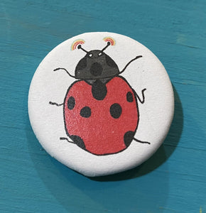 "1.25"" Button - Ladybug Rainbow (Three Pack)"
