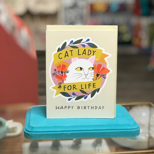Sticker Card - Cat Lady For Life