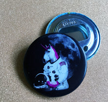 Load image into Gallery viewer, Bottle Opener Keychain: Astronaut Unicorn
