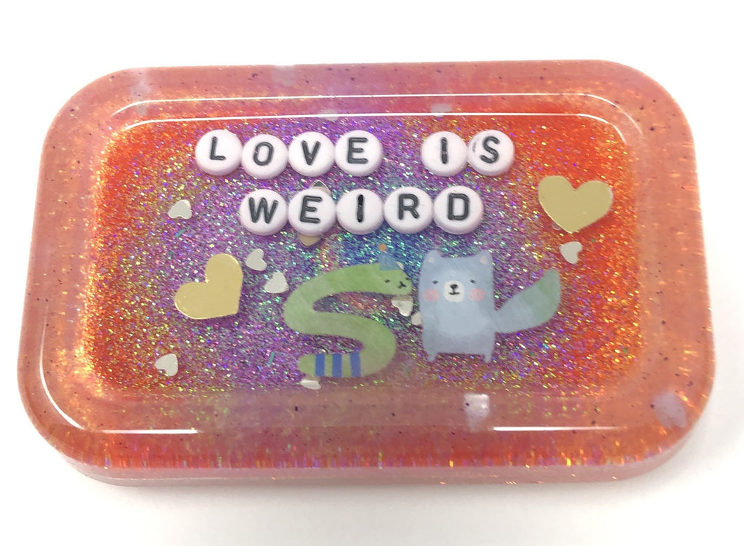 Love is Weird - Shower Art - READY TO SHIP