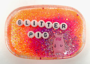 Glitter Pig - Shower Art - READY TO SHIP