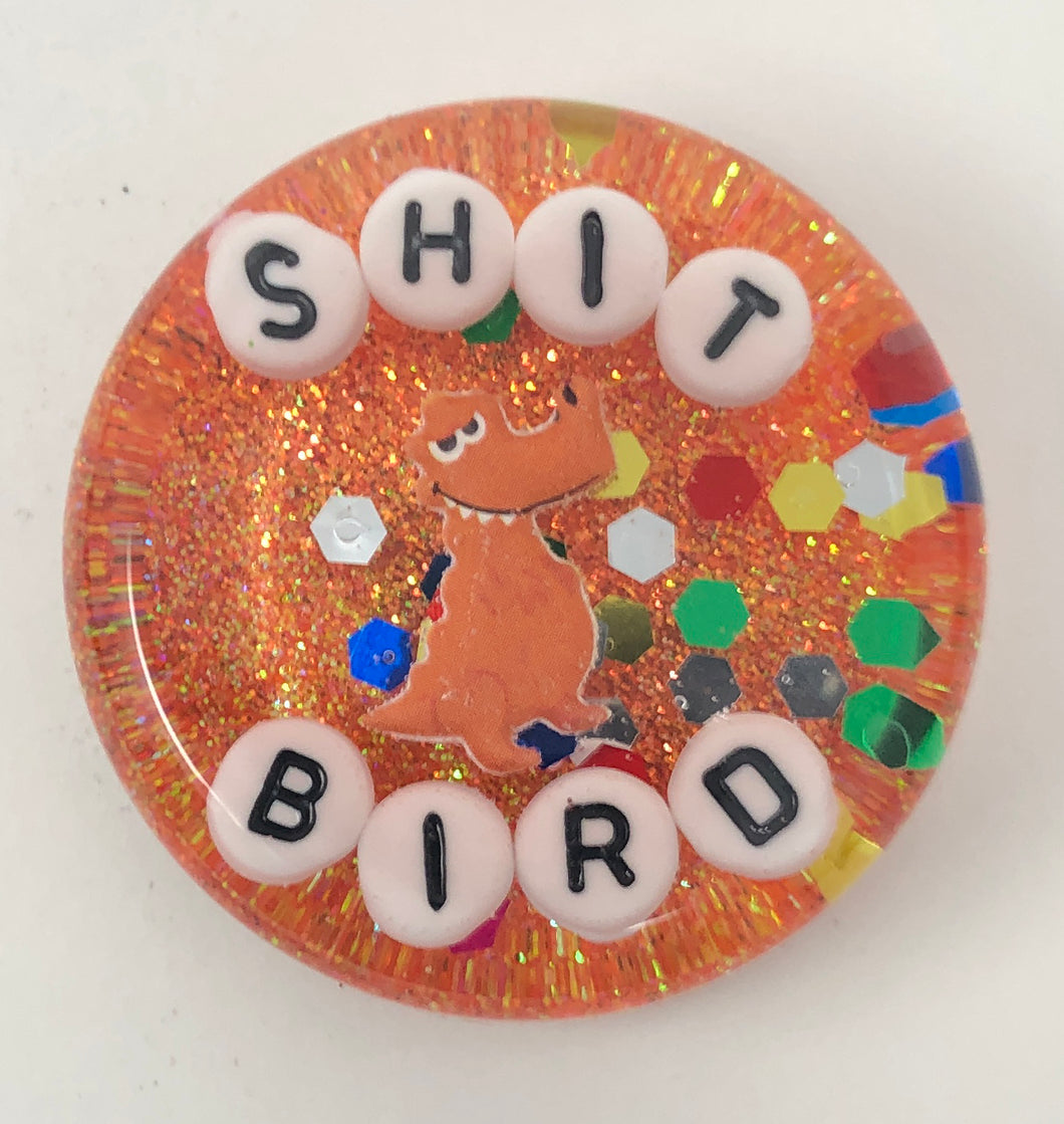 Shit Bird - Shower Art - READY TO SHIP