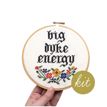 Load image into Gallery viewer, Cross Stitch Kit: Big Dyke Energy