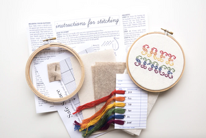 Cross Stitch Kit: Safe Space