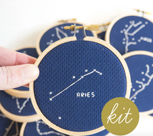 Load image into Gallery viewer, Cross Stitch Kit: Zodiac Aries