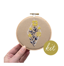 Load image into Gallery viewer, Cross Stitch Kit: Geometric Garden