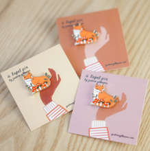 Load image into Gallery viewer, Enamel Pin - Fox In Forest