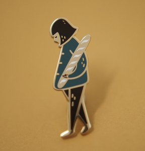 Enamel Pin - Girl And Her Baguette