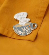 Load image into Gallery viewer, Enamel Pin - Tea-riffic