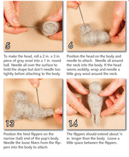 Load image into Gallery viewer, Needle Felting Kit: Seal Pups