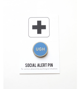 Enamel Pin: Ugh - Neon Pink or Neon Blue