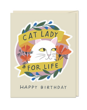 Load image into Gallery viewer, Sticker Card - Cat Lady For Life