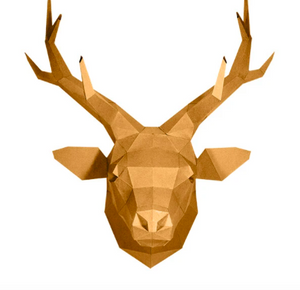 Paper Craft - Deer Head: Gold