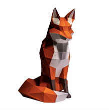 Load image into Gallery viewer, Paper Craft - Sitting Fox