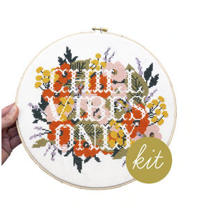 Cross Stitch Kit: Chill Vibes Only
