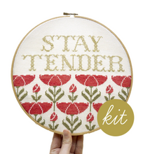 Load image into Gallery viewer, Cross Stitch Kit: Stay Tender