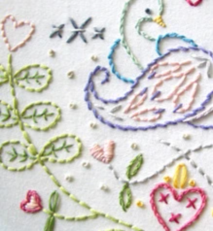 Craft Supply - Embroidery Pattern - Dutch Russian