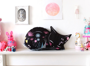 DIY - Floral Cat Sewing Kit - Black