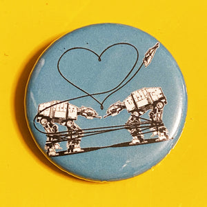 Magnet - 1.25 Inch: Love AT-AT First Sight - Blue