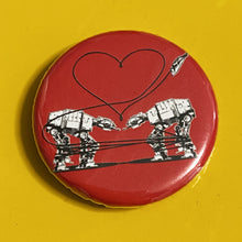 Load image into Gallery viewer, Magnet - 1.25 Inch: Love AT-AT First Sight - Red