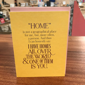 Card - Homes All Over the World