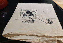 Load image into Gallery viewer, Kitchen Towel: Meta Laser Cat