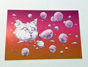 Postcard: Bubble Cat - Sunset - Ten Pack