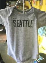 Load image into Gallery viewer, Onesie: This Says SEATTLE On It - Gray