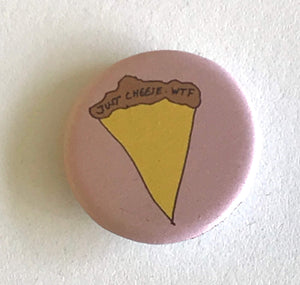 Magnet - 1.25 Inch: Pizza Party Pattern