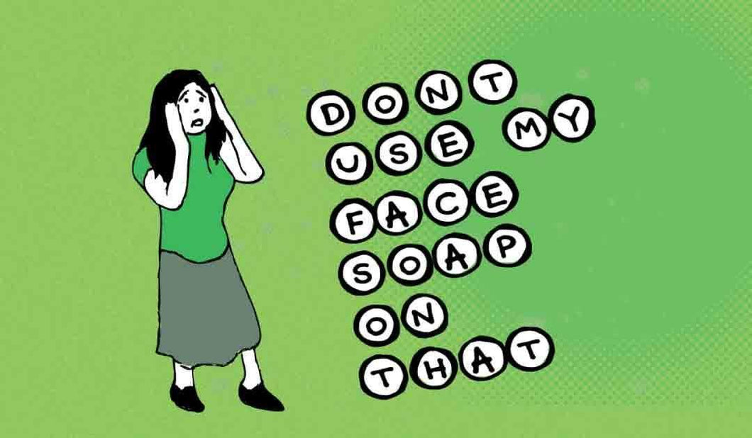 3x2 Sticker: Don't Use My Face Soap On That - Pack of 10