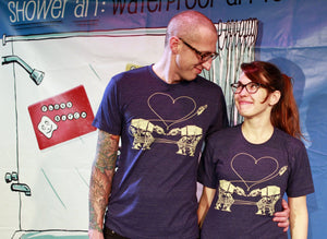 Shirt - Love AT-AT First Sight - Heather Blue - Unisex Crew