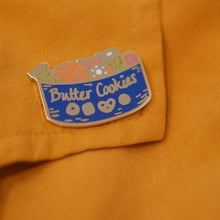 Load image into Gallery viewer, Enamel Pin - Butter Cookie Sewing Kit
