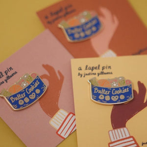 Enamel Pin - Butter Cookie Sewing Kit