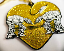Load image into Gallery viewer, Keychain: Love AT-AT First Sight - Gold Glitter