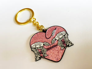 Keychain: Love AT-AT First Sight - Pink Glitter
