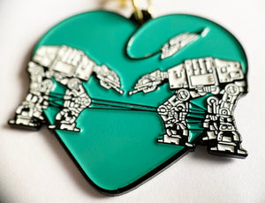 Keychain: Love AT-AT First Sight - Teal