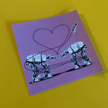 Load image into Gallery viewer, 4x4 Sticker - Love AT-AT First Sight - Pink - Large Sticker