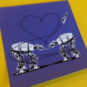 4x4 Sticker - Love AT-AT First Sight - Purple