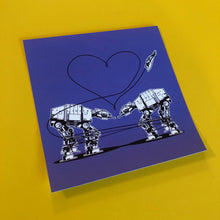 Load image into Gallery viewer, 4x4 Sticker - Love AT-AT First Sight - Purple