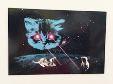 Load image into Gallery viewer, Postcard: Meta Laser Cat - Ten Pack