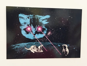 Postcard: Meta Laser Cat - Ten Pack