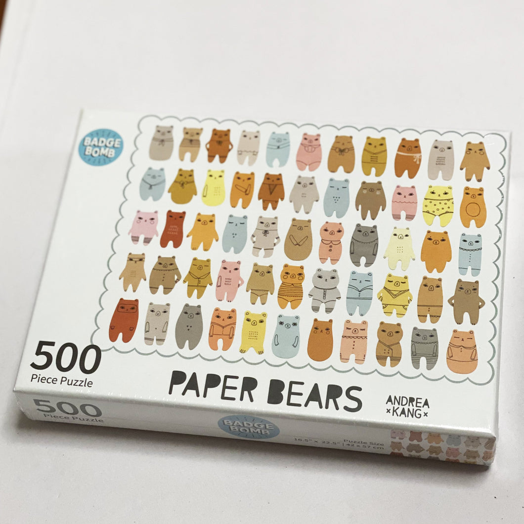 Puzzle: Paper Bears