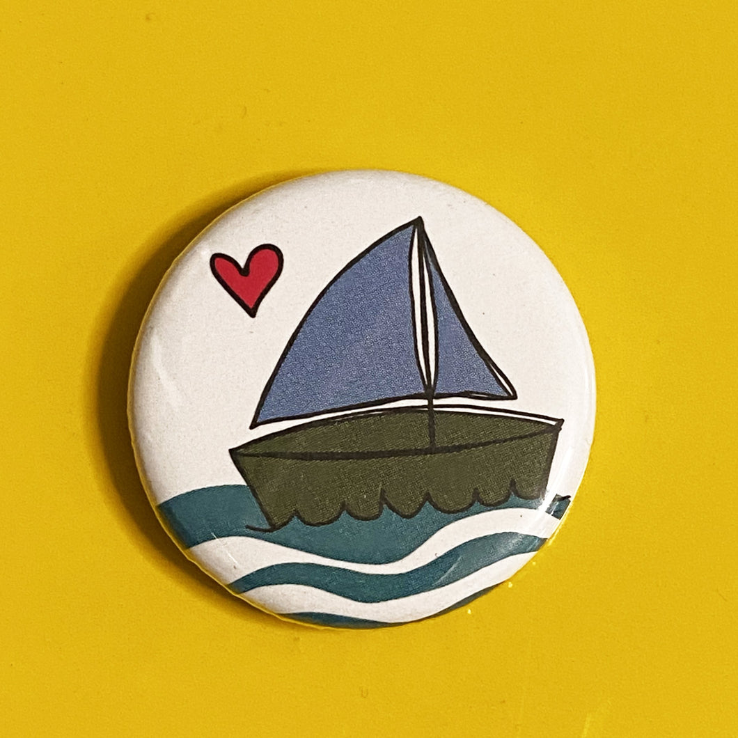 Magnet - 1.25 Inch: Sailboat
