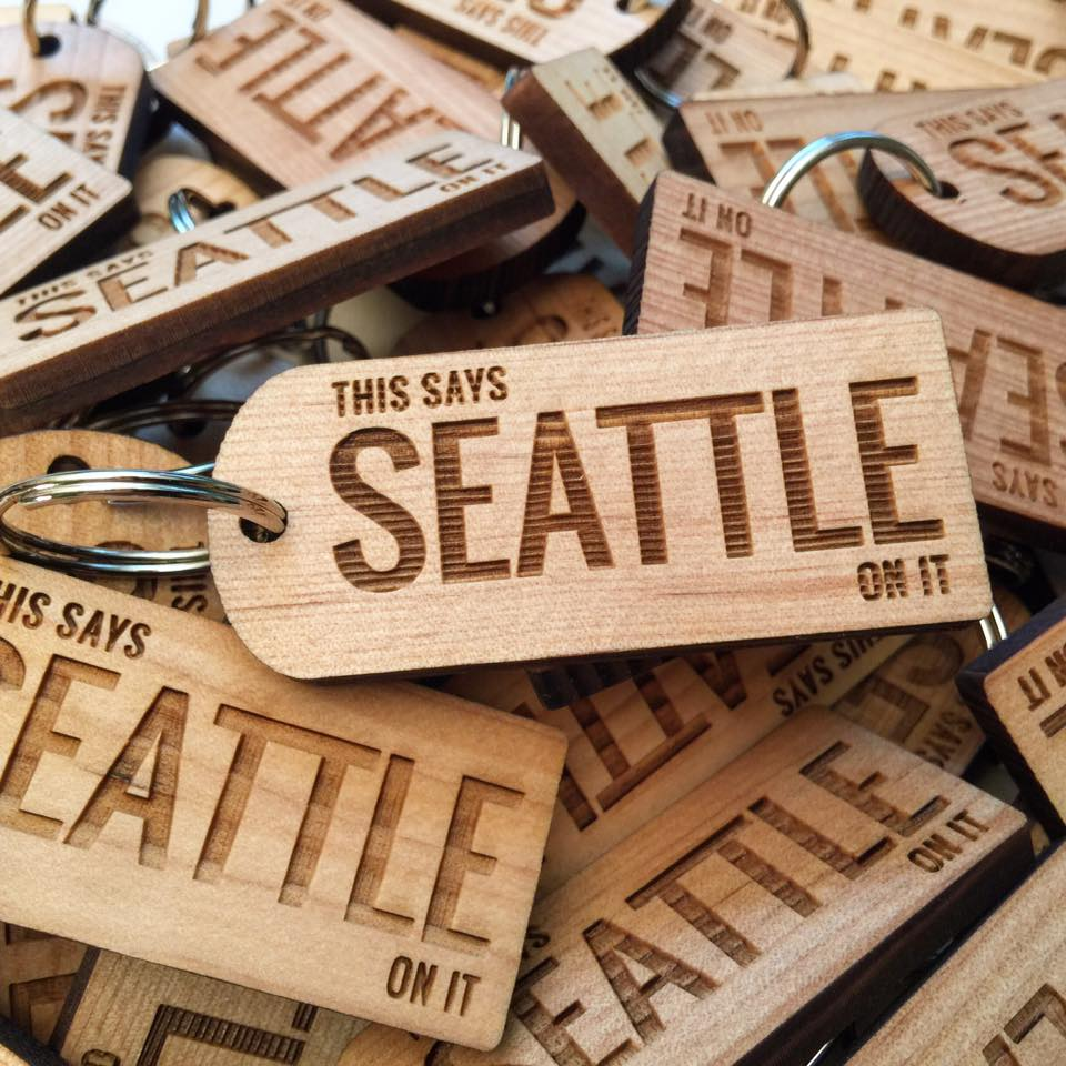 Keychain - This Says Seattle On It