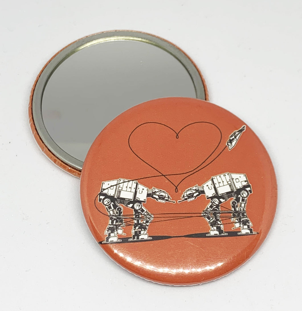 Small Mirror - Love AT-AT First Sight - Orange