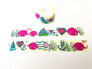 Washi Tape - Blob Fish Pattern