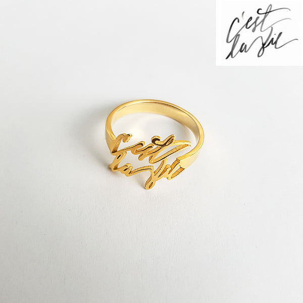 Personalized Signature Rings - Del Valle